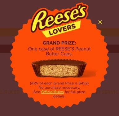 Win a Year's Supply of REESE'S Peanut Butter Cups