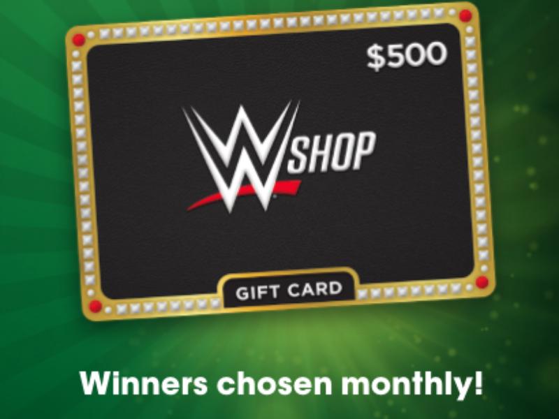 Win a $500 WWE Shop Gift Card