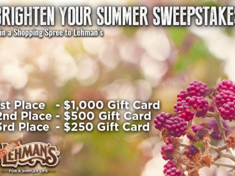 Win a Lehman's Hardware Shopping Spree
