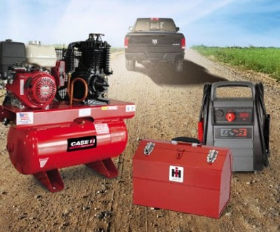 Win a Compressor, Jump Starter & Tool Box from Case IH