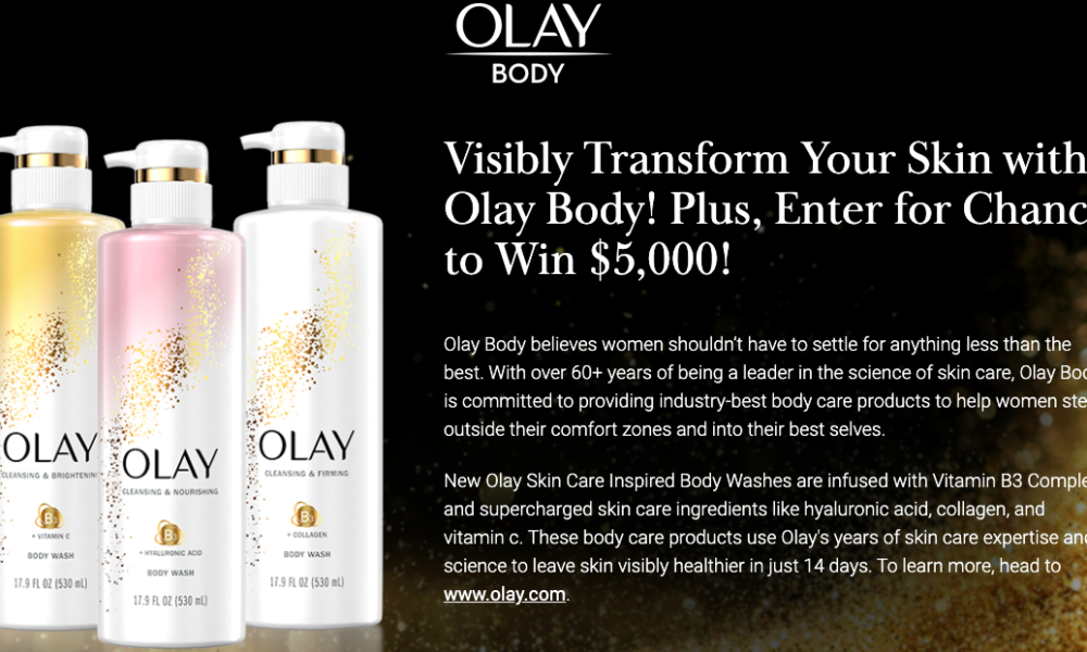 Win $5K + Olay Products from The Real
