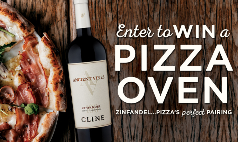 Win a Pizza Oven from CLINE CELLARS