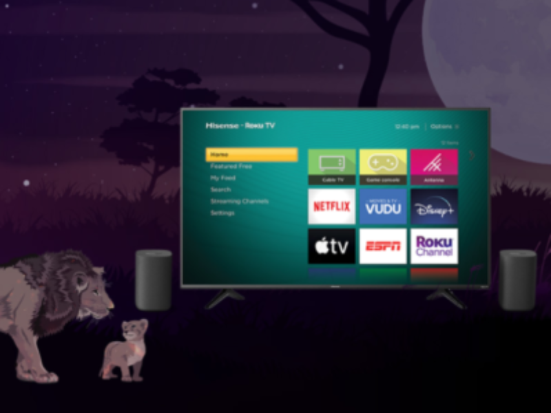 "Win a 58"" Roku TV & Wireless Speakers"