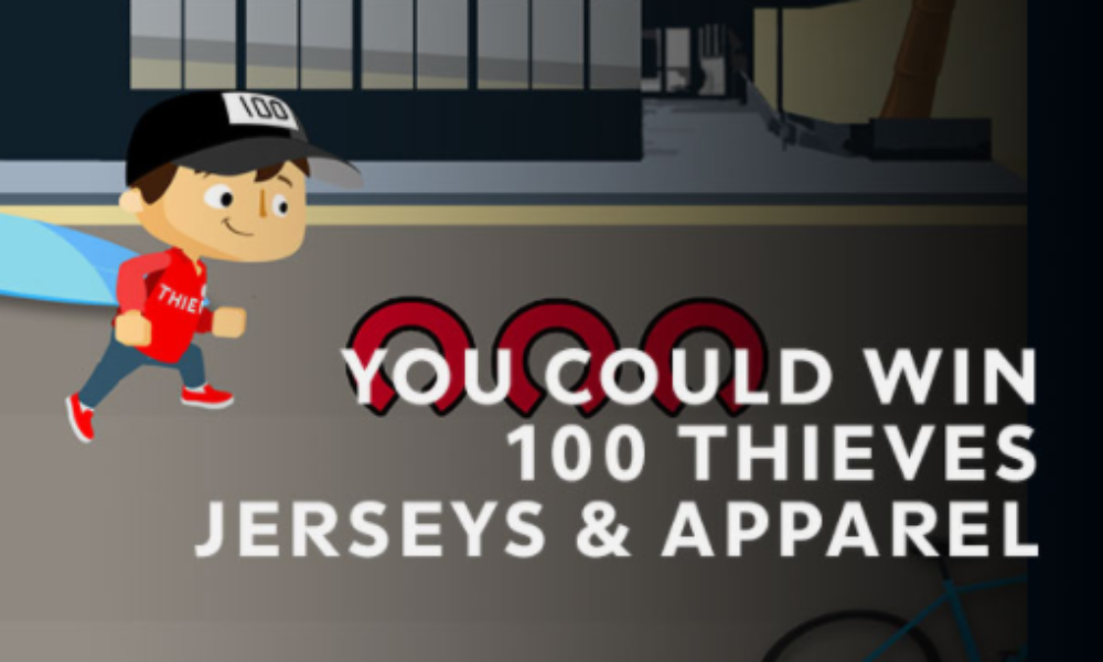Win 100 Thieves Jerseys & Apparel
