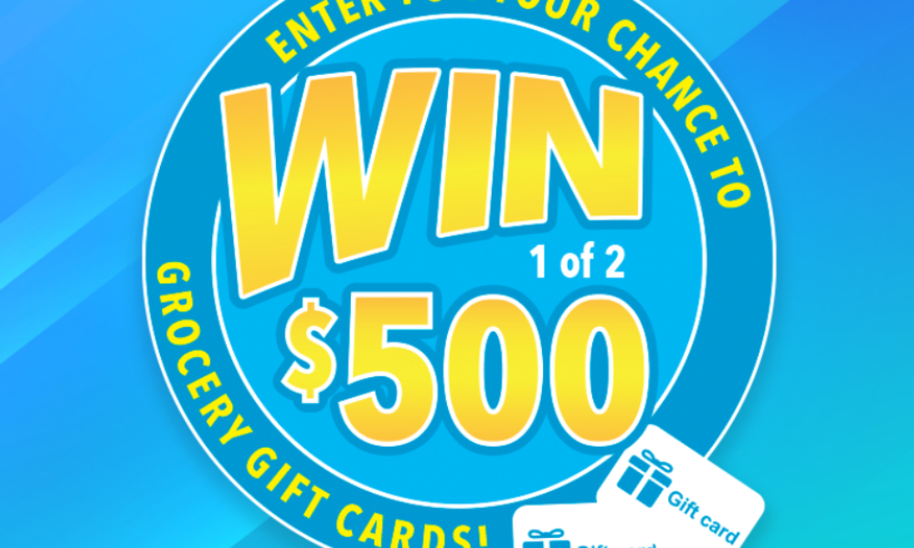 Win 1 of 2 $500 Grocery Gift Cards from Hydroxycut