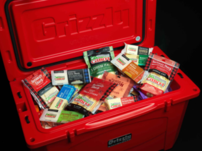 Win a Custom Grizzly Cooler + 1-Year of Cheese