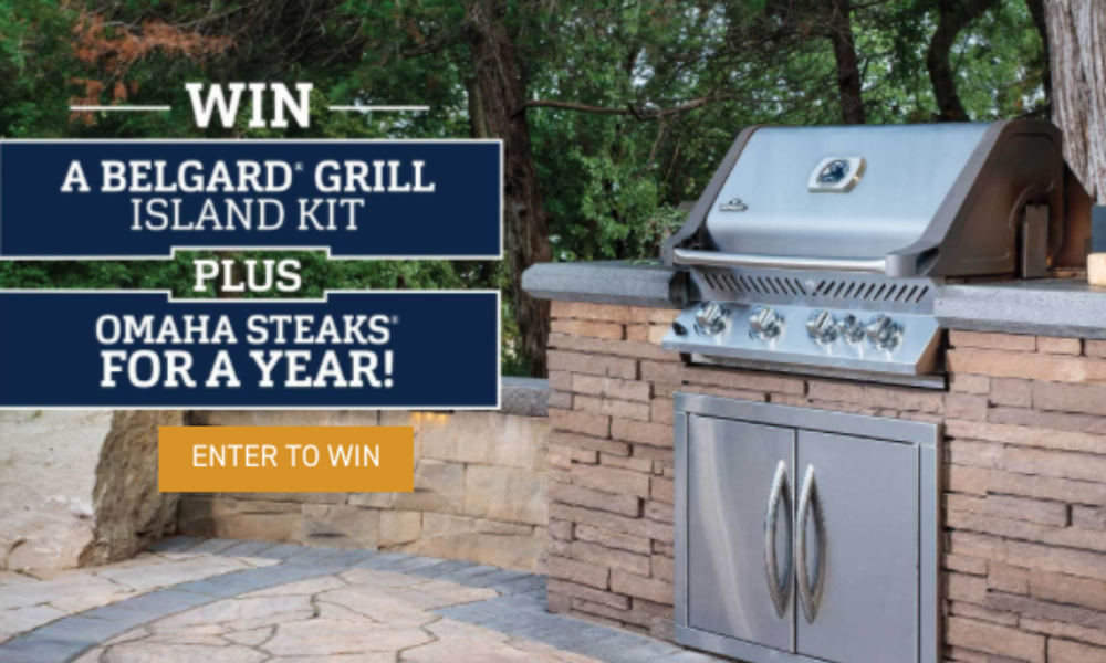 Win a Bordeaux Grill Island from Omaha Steaks