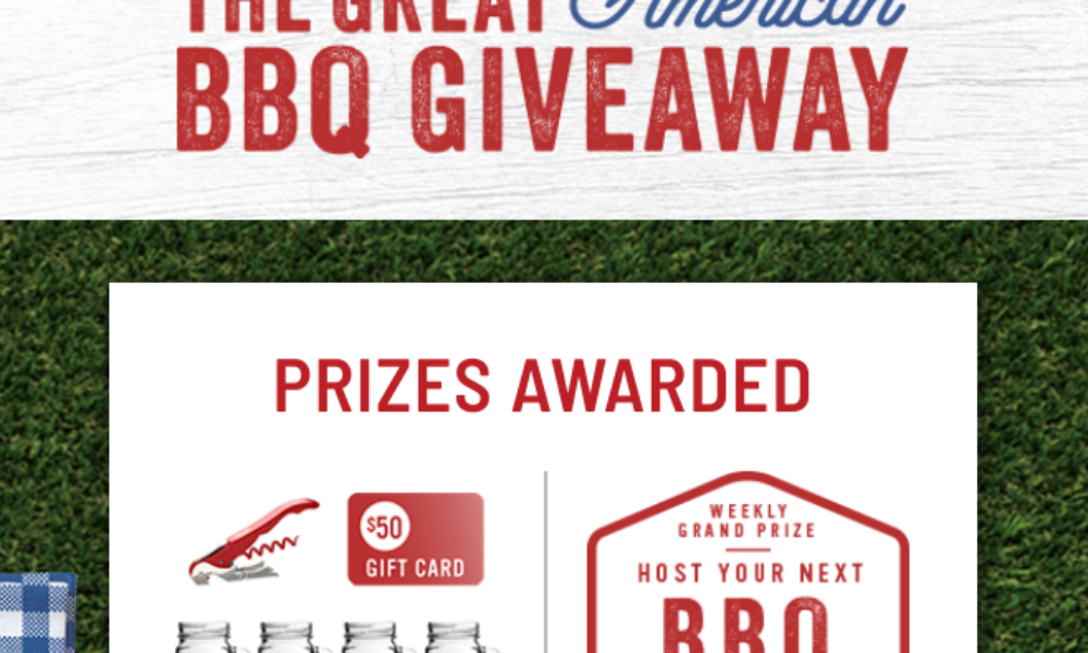 Win a $1K Gift Card to Host a Great American BBQ