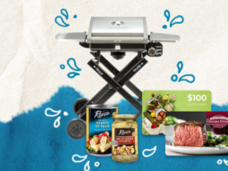 Win a  Cuisinart All Foods RollAway Propane Gas Grill