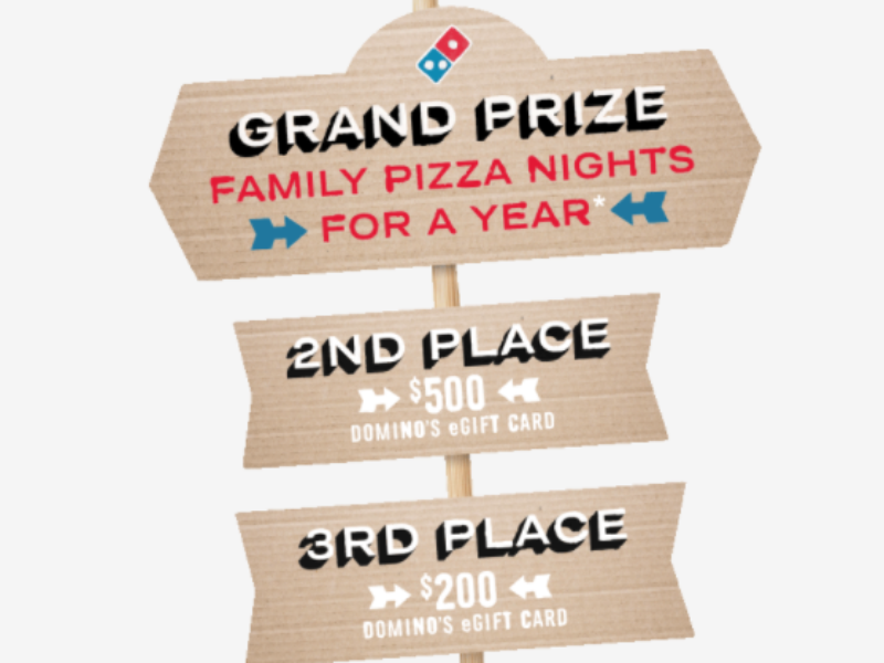Win Pizza for a Year from Domino's