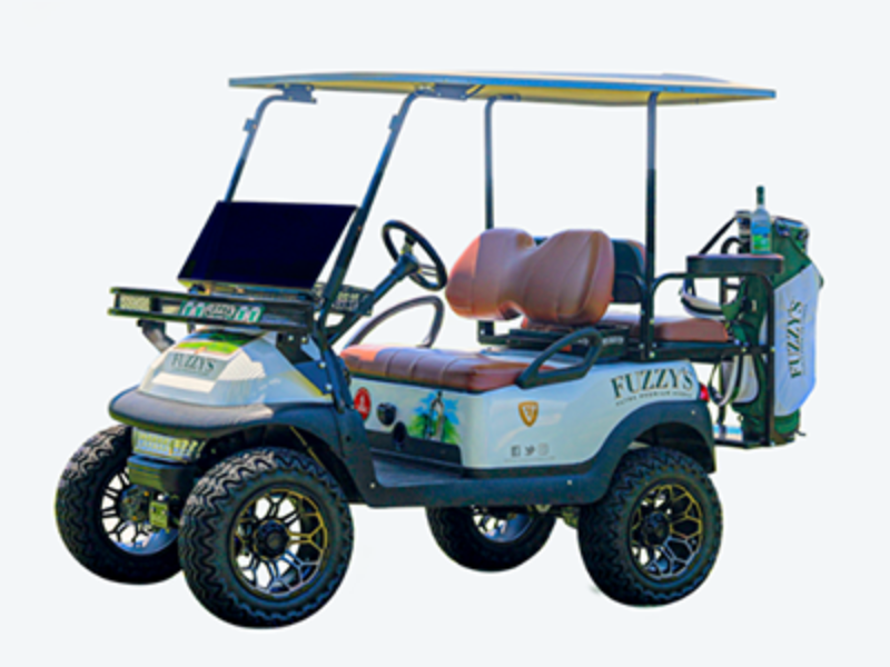 Win a Custom Fuzzy's Golf Cart
