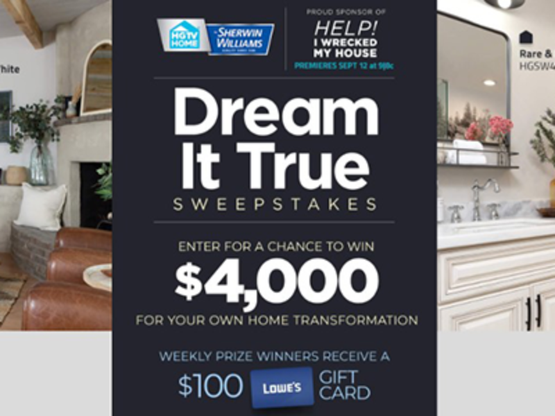 Win a $4K Home Transformation from HGTV