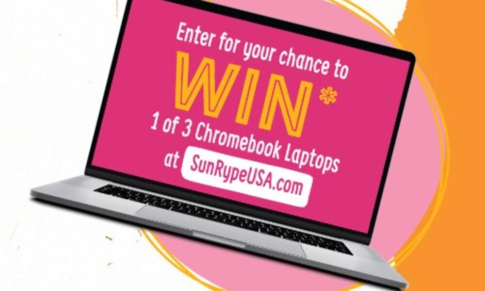 Win 1 of 3 Chromebooks from SunRype