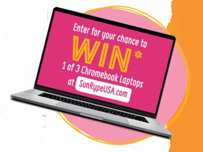 Win 1 of 3 Chromebooks from SunRype