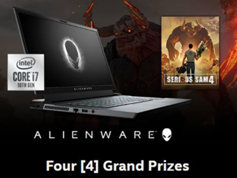 Win an Alienware Gaming Laptop from Intel