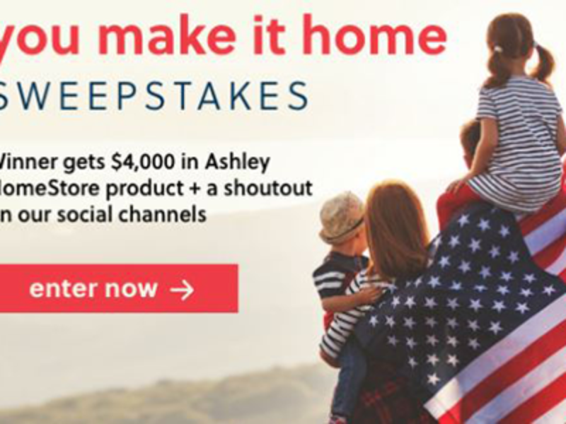 Win a $4K Ashley HomeStore Product