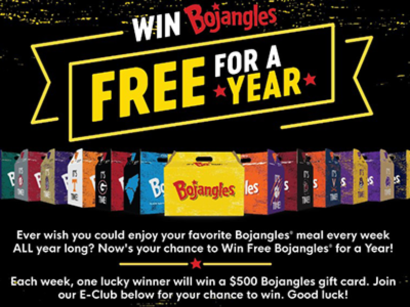 Win Bojangles For A Year