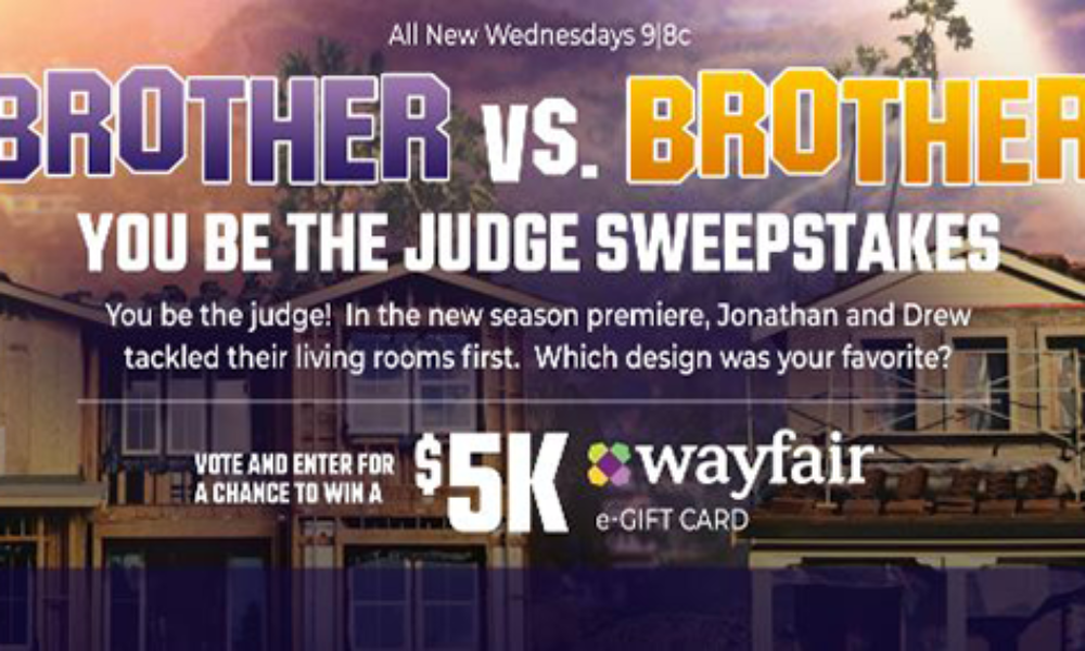 Win a $5K Wayfair E-Gift Card from HGTV