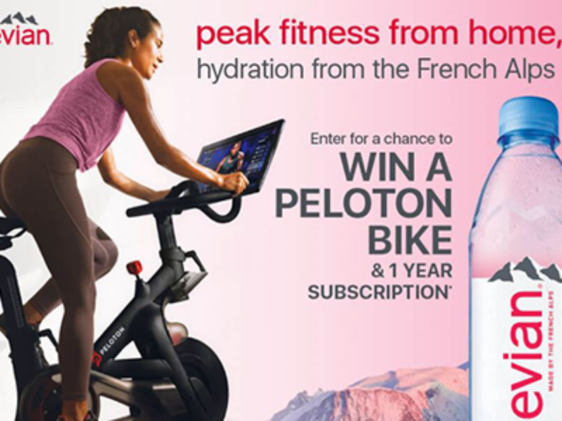 Win a Peloton Fitness Bike from Evian
