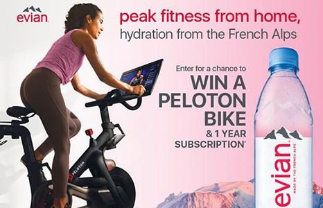 Win a Peloton Fitness Bike from Evian