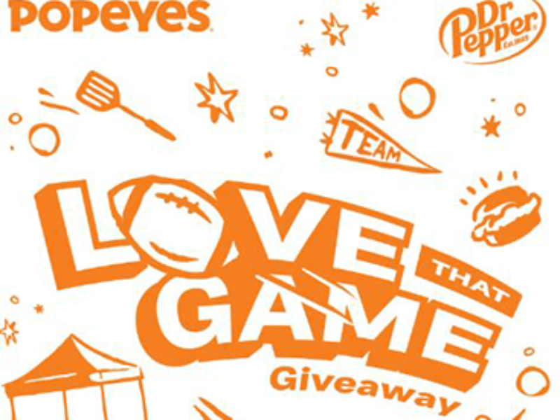 "Win $9K + 65"" TV from Popeyes"