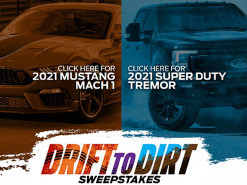 Win a 2021 Ford Mustang or 2021 Ford Super Duty