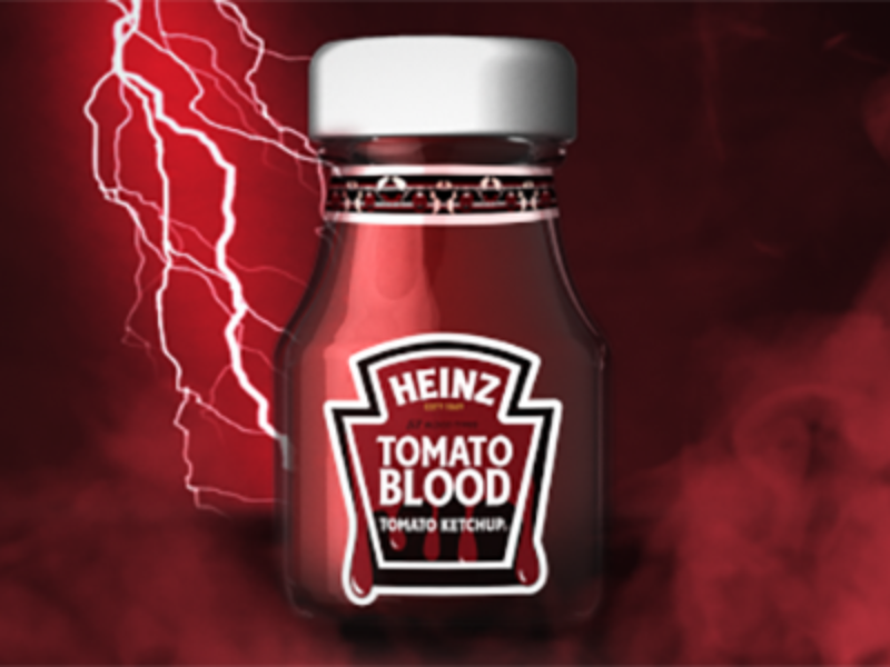 Win 1 of 570 Bottles of HEINZ Tomato Blood Ketchup