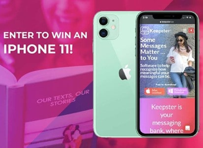 Win an iPhone 11 from Keepster
