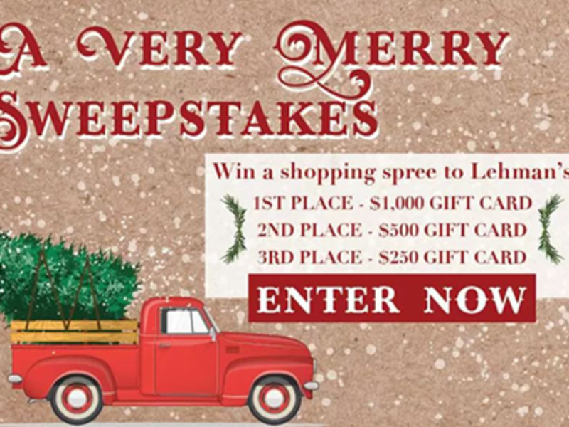 Win a $1K Lehman's Shopping Spree