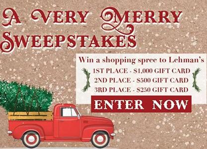 Win a $1K Lehman's Shopping Spree
