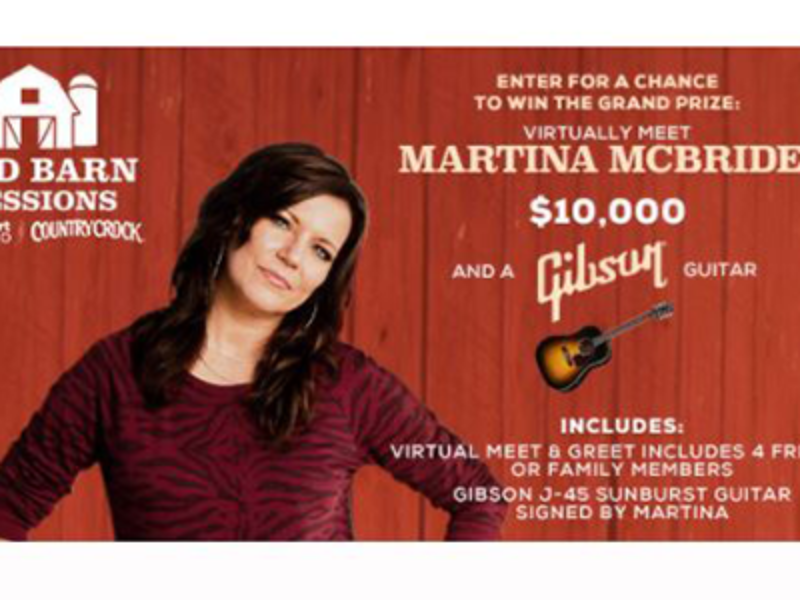Win $10K & Meet Martina McBride