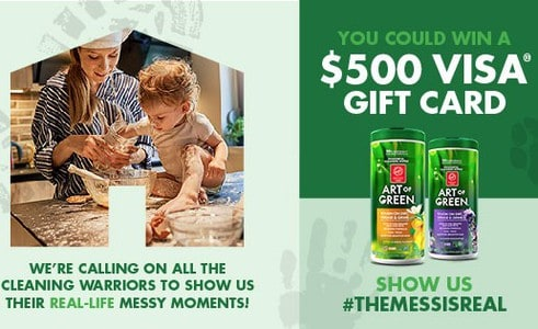 Win a $500 VISA Gift Card from Art of Green