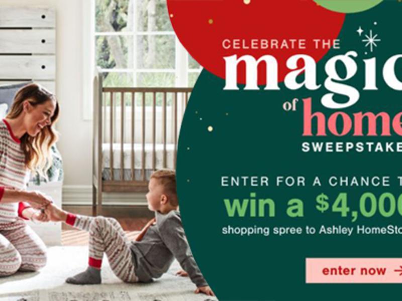 Win a $4K Ashley Homestore Shopping Spree
