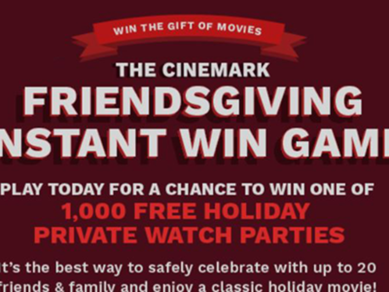 Win 1 of 1,000 Free Holiday Private Watch Parties