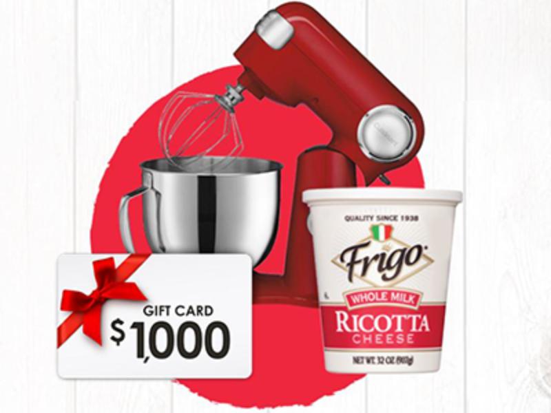 Win $1K + Cuisinart Stand Mixer from Frigo
