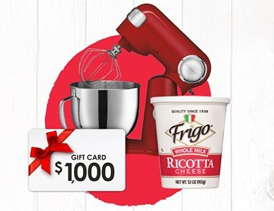 Win $1K + Cuisinart Mixer from Frigo