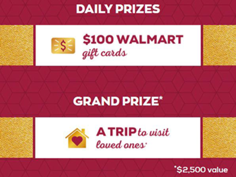 Win a $100 Walmart Gift Card Daily from Kraft