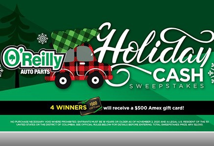 Win a $500 AMEX Gift Card from O'Reilly