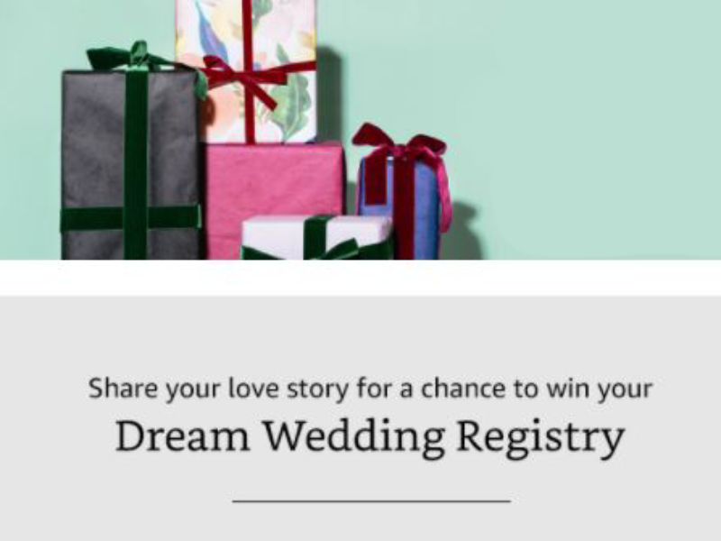 Win $25,000 in Amazon Wedding Registry Products