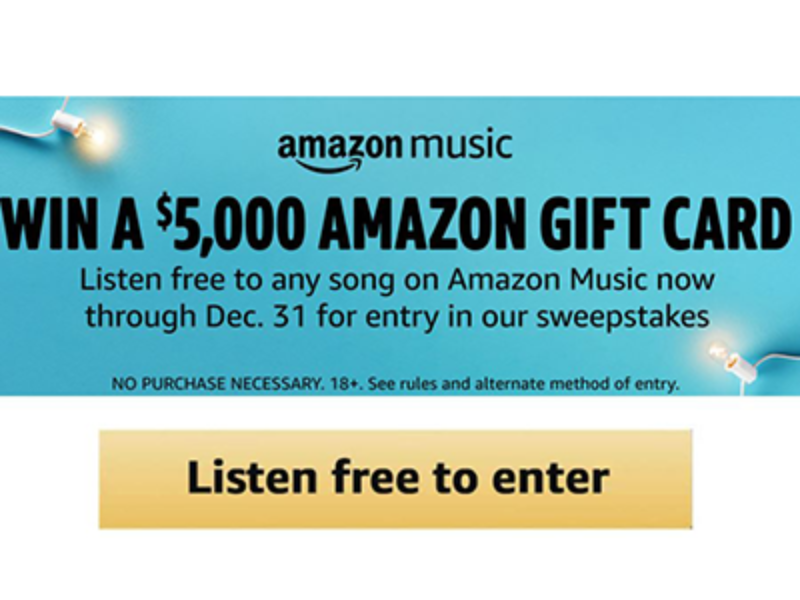 Win a $5,000 Amazon Gift Card from Amazon Music