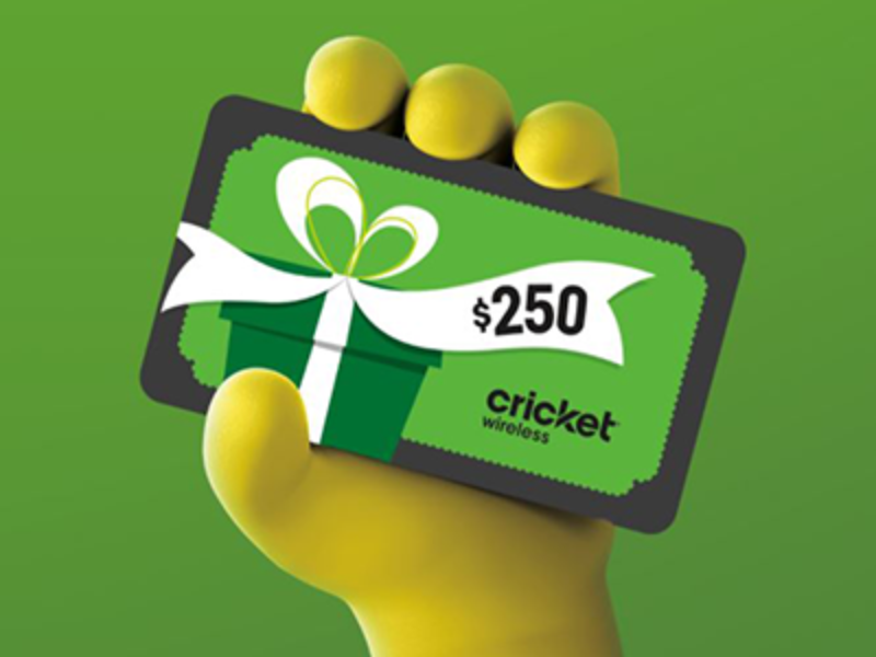 Win a $250 VISA Gift Card from Cricket Wireless