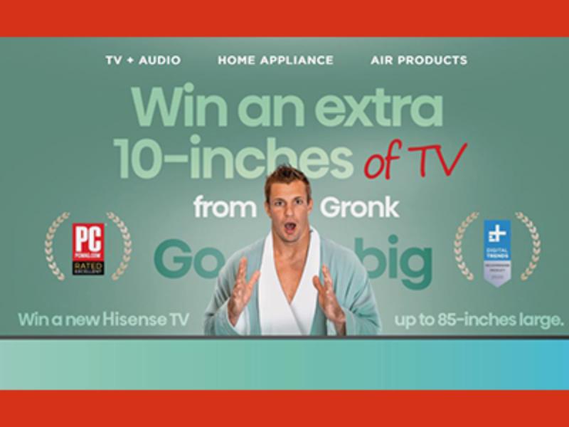 """Win an 85"""" Hisense HDTV"""
