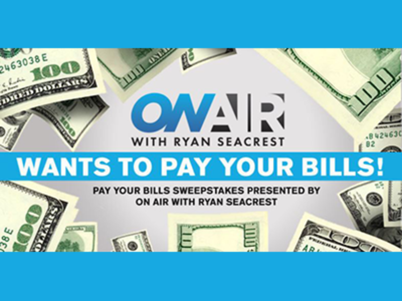 Win $2,500 from Ryan Seacrest