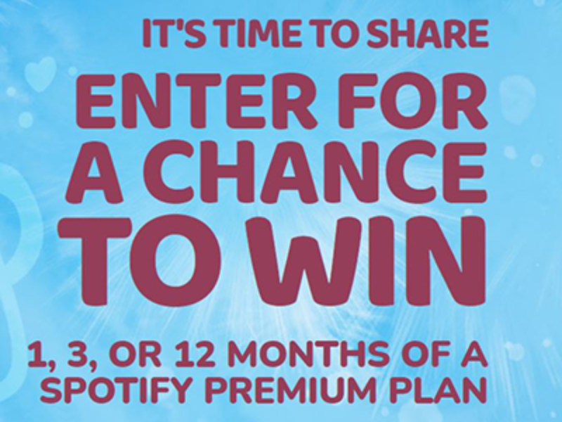 Win 12-Months of Spotify Premium