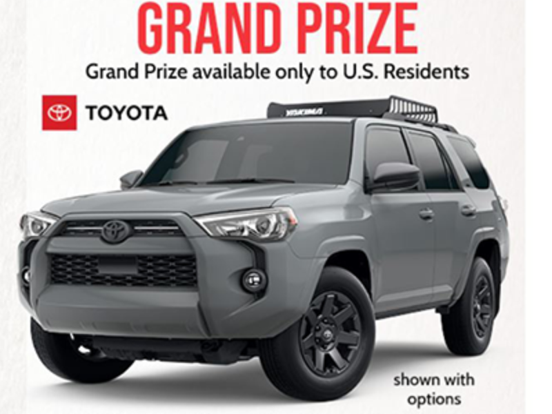 Win a 2021 Toyota 4Runner from Cabela's