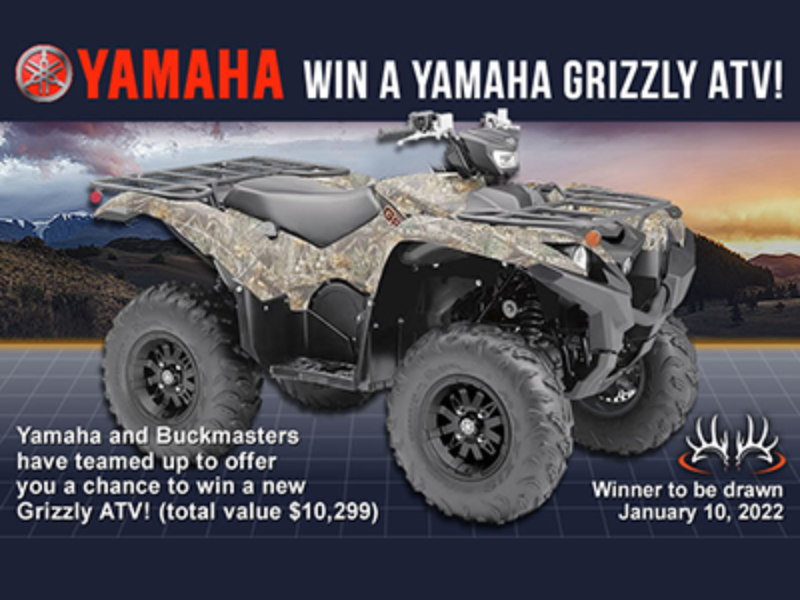 Win a Yamaha Grizzly ATV from Buckmasters