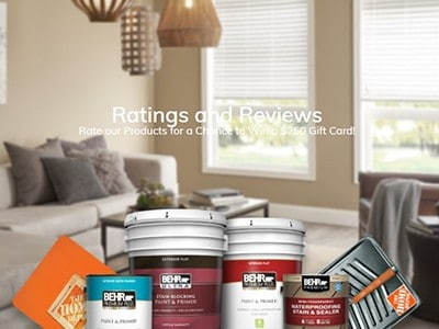 Win a $250 Home Depot Gift Card from Behr