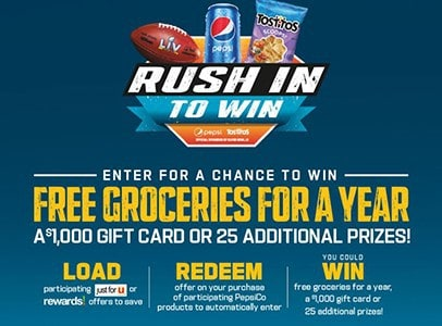 Win Groceries For A Year from Pepsi-Co
