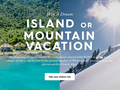 Win an Island or Mountain Vacation