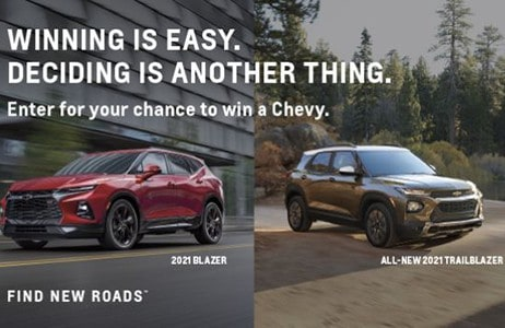 Win a 2021 Chevrolet Vehicle up to $50,000